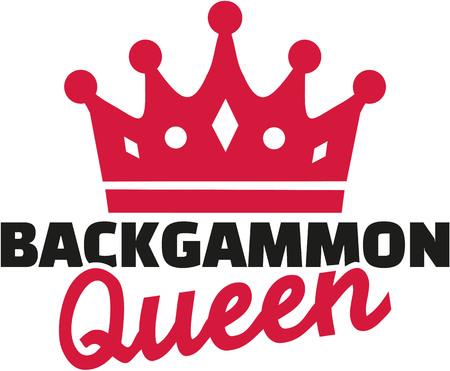 Backgammon queen Illustration