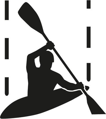 canoe: Canoe slalom silhouette