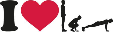I love burpees silhouette