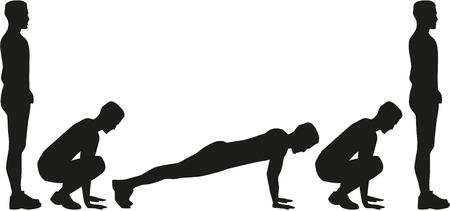squat: Burpees silhouette