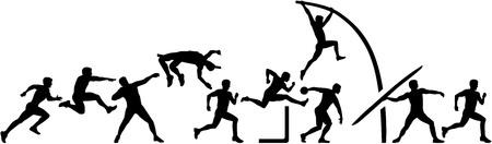 decathlon: Decathlon set in a line