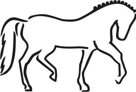 dressage: Dressage horse sketch style