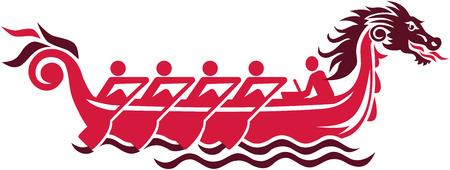 bateau de course: courses de bateau dragon pictogramme