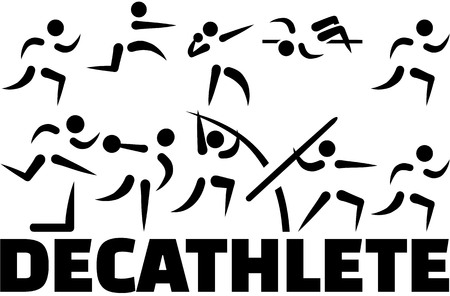 Decathlete icon set