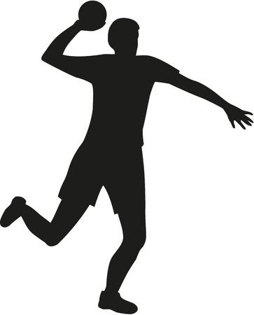 Dodgeball player throwing a ball 矢量图像