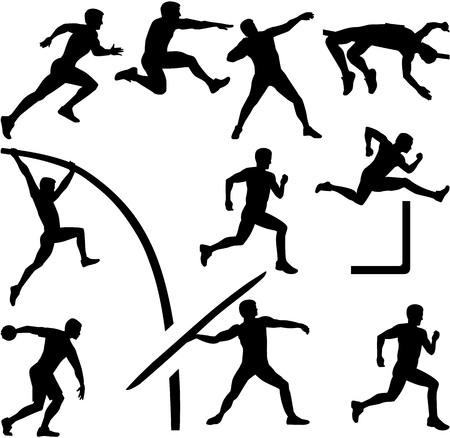 pentathlon: Decathlon silhouette athletics