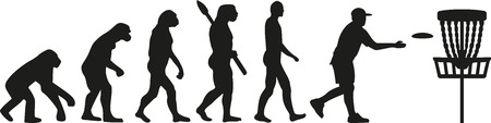 flying monkey: Disc golf evolution Illustration