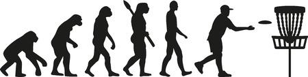 Disc golf evolution Ilustração