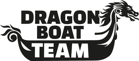 bateau de course: Dragon �quipe de course de bateau