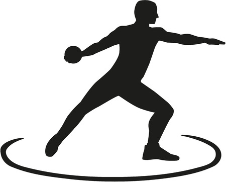 discus: Discus thrower standing in the circle Illustration
