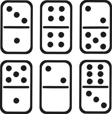 domino: Domino tiles white