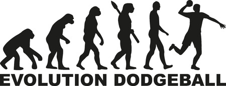 evolve: Evolution dodgeball Illustration