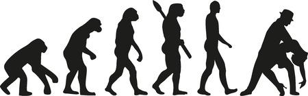 human evolution: Dancing evolution couple tango