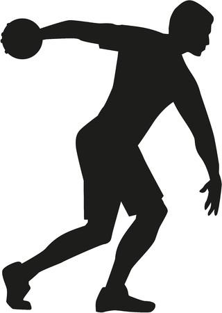 discus: Discus thrower silhouette