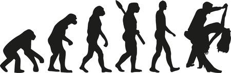 Evolution Paartanz Standard-Bild - 49616129