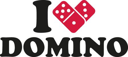 domino: I love domino Illustration