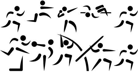 Decathlon set van pictogrammen
