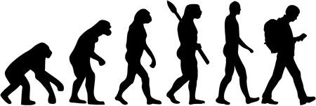 geocaching: Geocaching evolution Illustration
