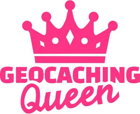 geocache: Geocaching queen Illustration