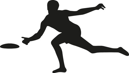 frisbee: Silhouette of frisbee player