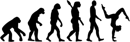 female silhouettes: Floor exercise evolution