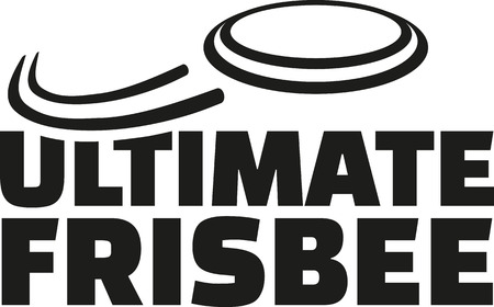 Ultimate frisbee with flying frisbee Illustration