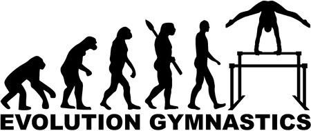 uneven: Evolution gymnastics with uneven bars