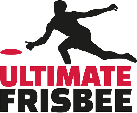 ultimate: Ultimate frisbee word with player