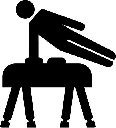 pommel: Pommel horse exercise pictogram