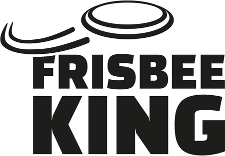 Frisbee king wiht flying frisbee Illustration
