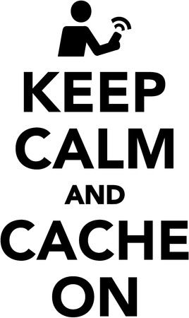 geocache: Keep calm and cache on