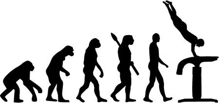 vaulting: Evolution vaulting table Illustration