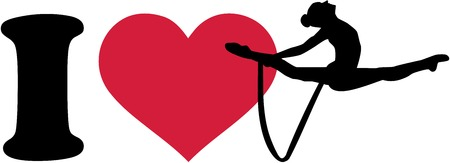 I love Rhythmic gymnastics with rope Ilustracja