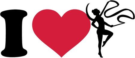I love gymnastics with ribbon Çizim