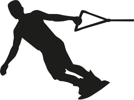 wakeboarding: Wakeboarding silhouette