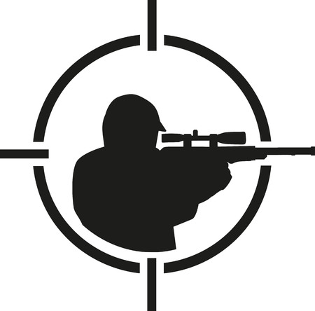 airsoft: Airsoft player in crosshair