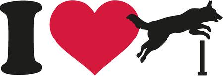 I love dog agility