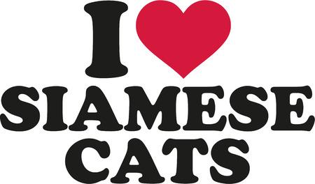 siamese: I love siamese cats