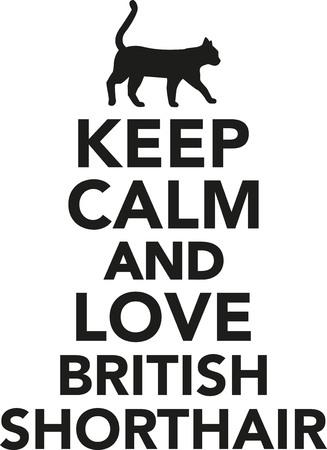 Houd kalm en liefde Brits korthaar