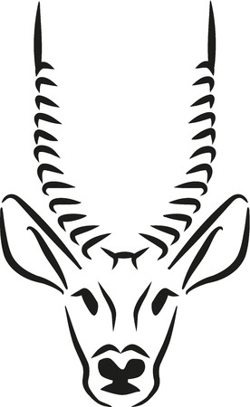 antelope: Antelope head graphic