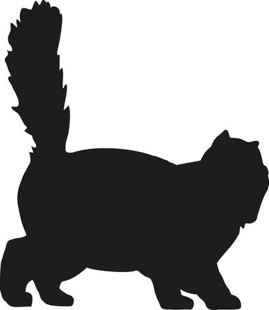 persian cat: Persian cat playing Illustration
