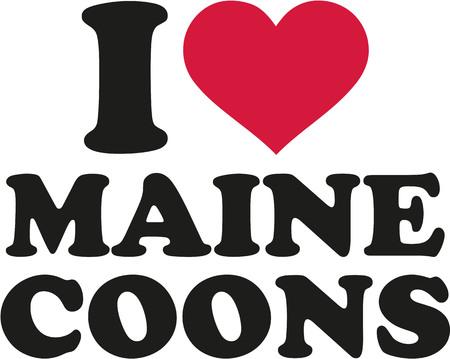 maine: I love maine coons Illustration
