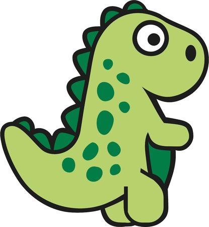 tyrannosaurs: Cartoon tyrannosaurs Illustration