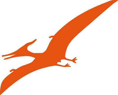 pteranodon: Dinosaur pteranodon pterosaur silhouette Illustration