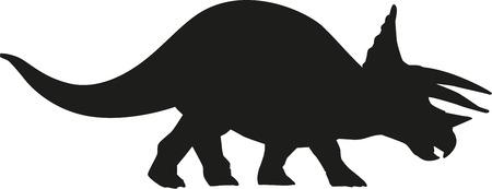 triceratops: Dinosaur triceratops Illustration