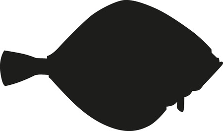 flounder: Flounder fish silhouette Illustration