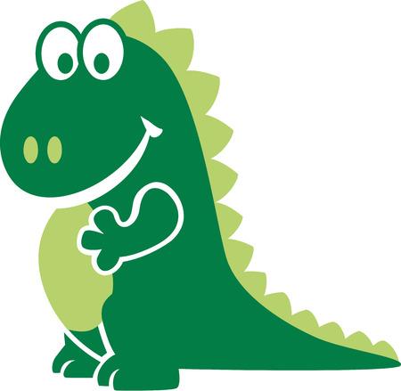 cartoon dragon: Smiling cartoon dragon