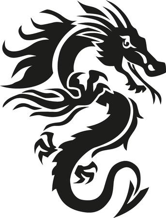 monster tattoo: Chinese dragon