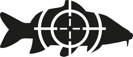 Carp with target Ilustracja