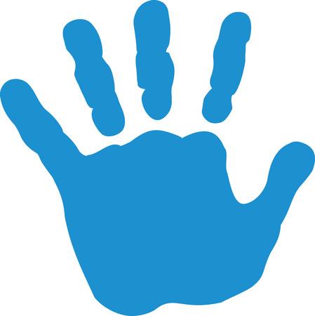 Baby hand print Illustration